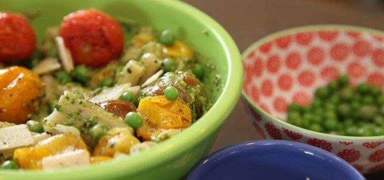 Gluten-Free Recipe: Pasta With Avocado Basil Pesto Hero Image