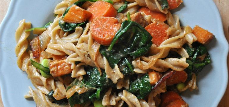 Easy Weeknight Pasta With An Asian Twist (Vegan & Gluten-Free) Hero Image