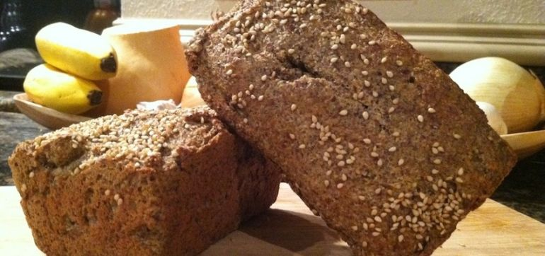 Grain-Free, Omega-Rich Flaxseed Bread Recipe Hero Image