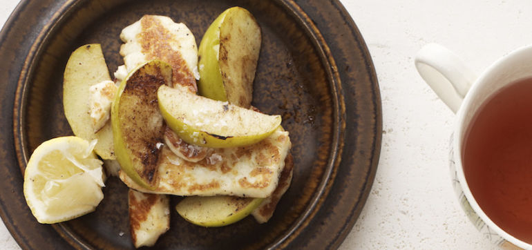 ​Salted Caramel Halloumi With Apple Hero Image