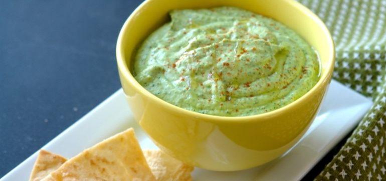 St. Patty's Day Green Hummus Dip Hero Image