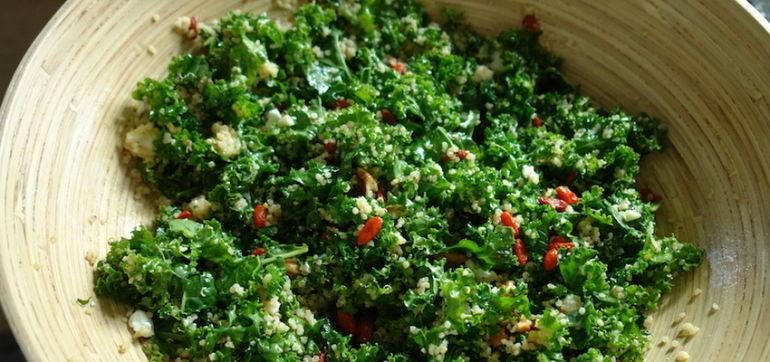 Goji Berry, Kale & Quinoa Salad Hero Image