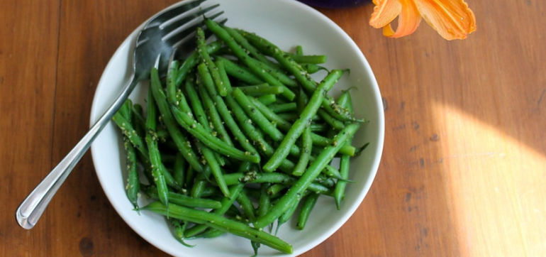 Summer Green Beans With Garden Pesto (Vegan Recipe) Hero Image