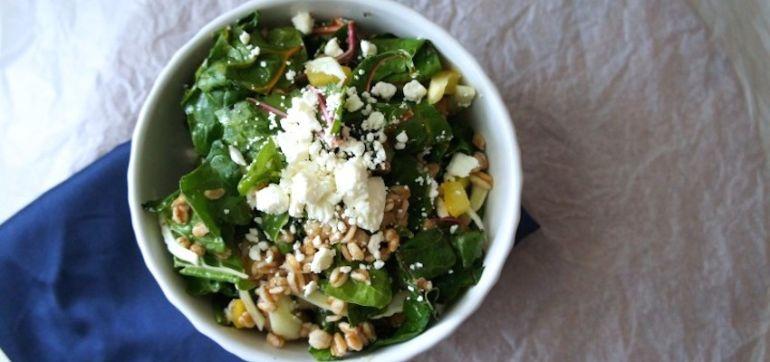 Summer Salad With Lemon, Feta & Farro Hero Image