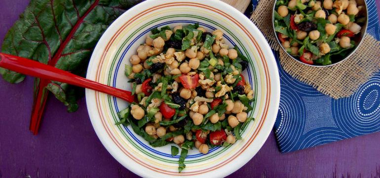 Lemony Vegan Chickpea Salad Hero Image