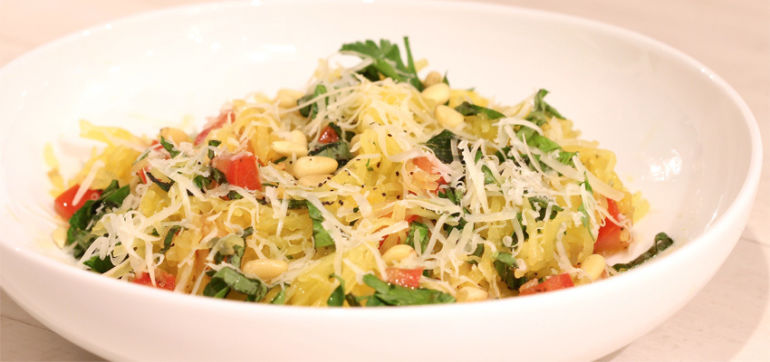 "Spaghetti Squash ""Pasta"" With Fresh Herbs Hero Image"