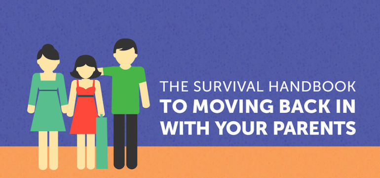 The Survival Handbook To Moving Back In With Your Parents Hero Image
