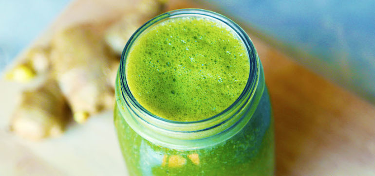 A Green Smoothie With A Ginger Kick Hero Image
