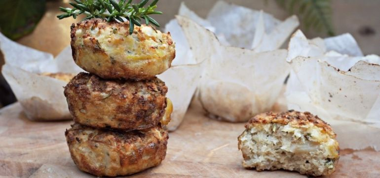 Goat Cheese & Rosemary Paleo Muffins Hero Image