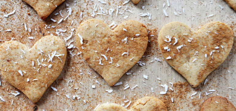 Vegan & Gluten-Free Peanut Butter Love Cookies Hero Image