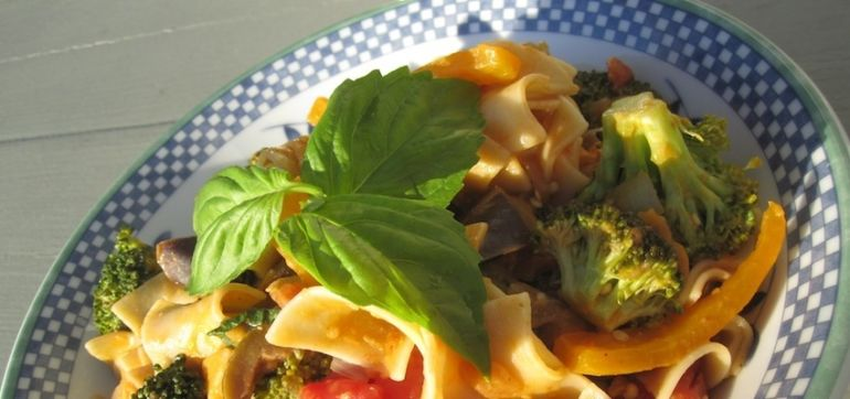 Everything-In-The-Kitchen Dinner (Vegan Recipe) Hero Image