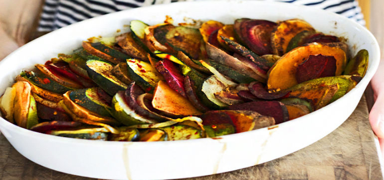 Spiced Summer Vegetable Casserole Hero Image
