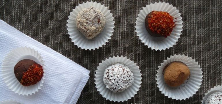 Vegan Chocolate Truffles With A Chili Kick! Hero Image