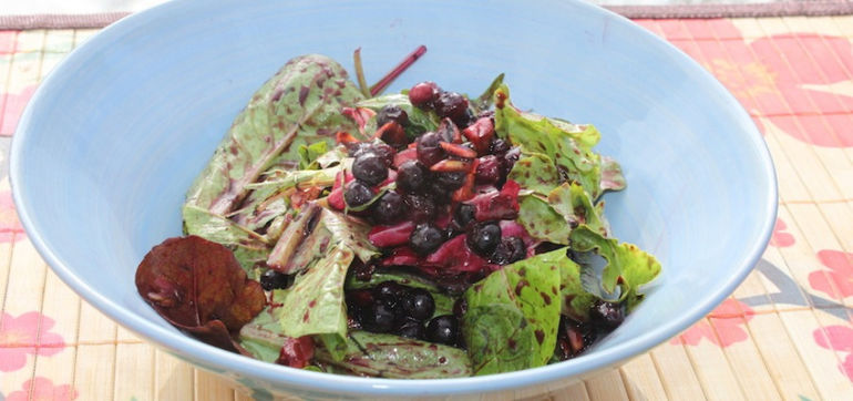Blueberry & Roasted Almond Spring Salad Hero Image