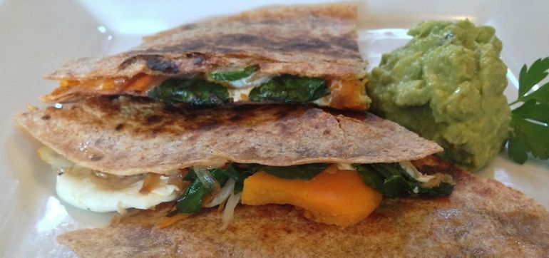 Butternut Squash & Kale Quesadilla (It's Ridiculously Healthy!) Hero Image