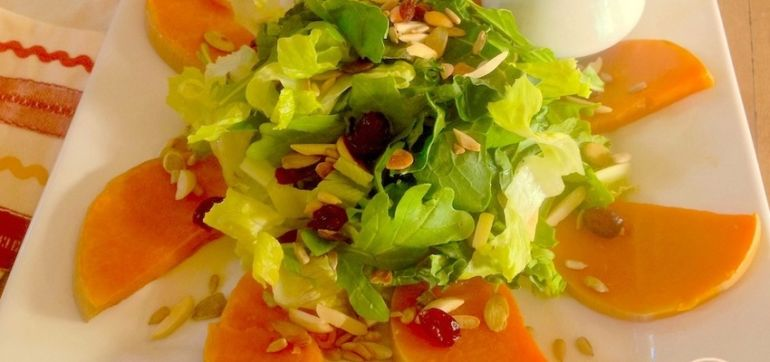 Winter Squash Salad With Toasted Nuts & Cranberries Hero Image
