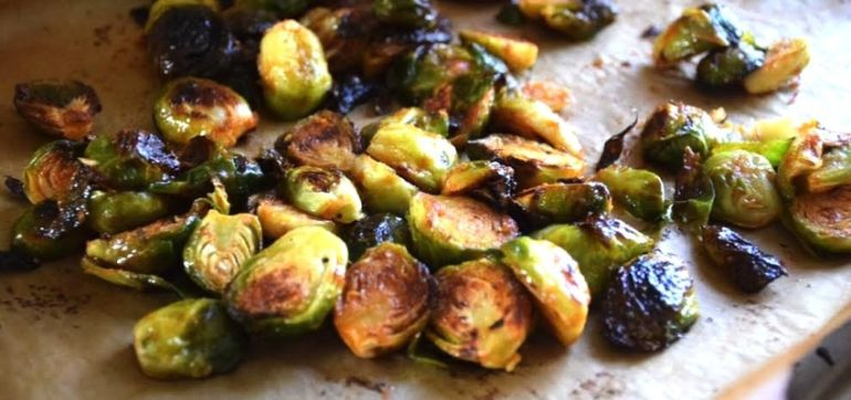 Roasted Brussels Sprouts With A Peppery Kick Hero Image