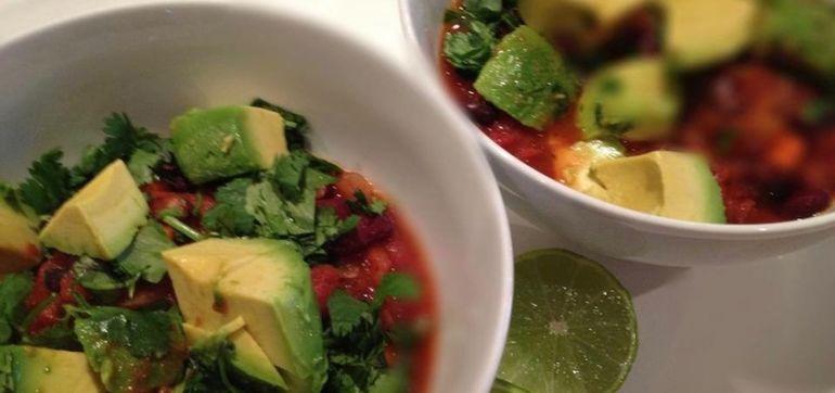 Vegan Recipe: Spicy Bean Chili Hero Image
