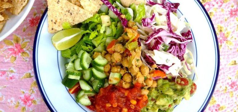 Vegan Taco Salad Bowls With Smokey Cashew Cream Hero Image