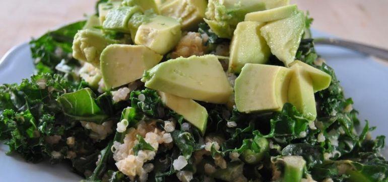 Warm Kale & Quinoa Salad Hero Image