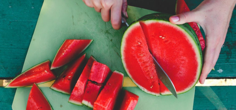 Stay Hydrated This Summer With This Watermelon Green Juice Hero Image