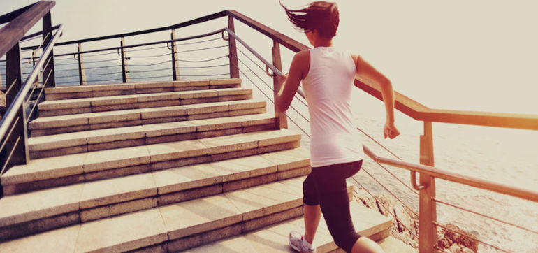 Switch Up Your Running Routine With This Stair Workout (Video) Hero Image