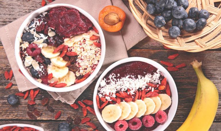 Gluten-Free, Açaí Breakfast Bowls Hero Image