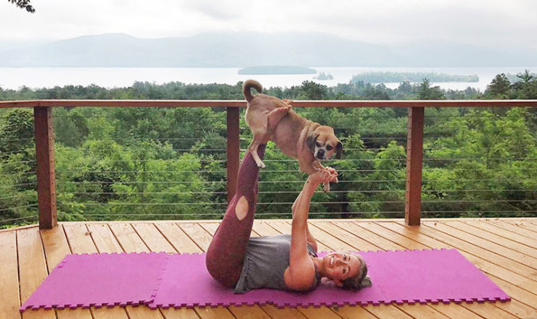 These Photos Of People Doing Yoga With Goats & Puppies Will Make You Ridiculously Happy Hero Image