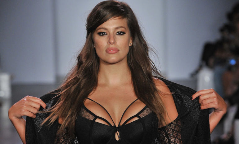 Ashley Graham & Fellow Plus-Size Models Kill It At Fashion Week In Lingerie Hero Image