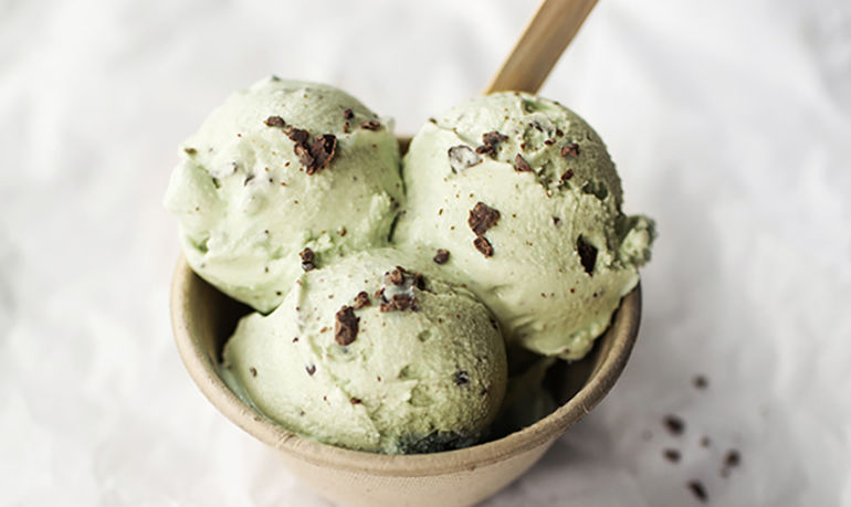 Heck, Yes: Vegan Avocado Mint Chocolate Chip Ice Cream Hero Image