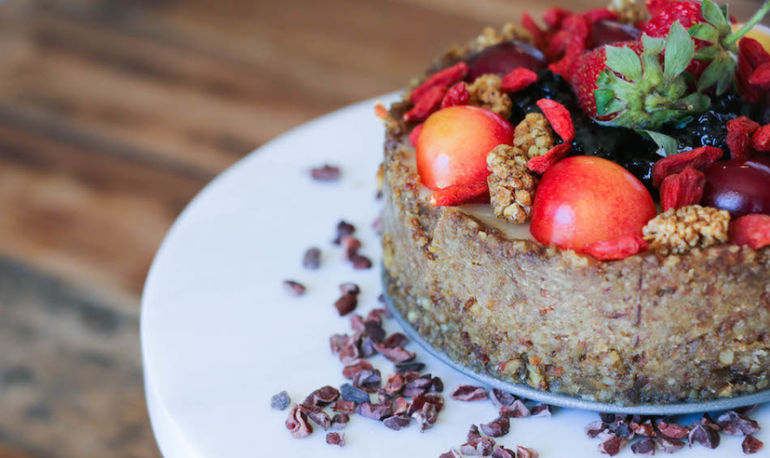 This Vegan Superfood Berry Cheesecake Is Epic Hero Image
