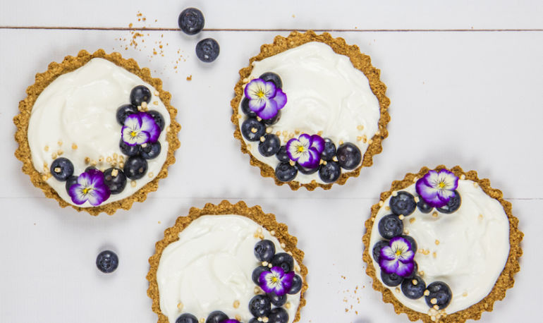 Dessert For Breakfast: Blueberry, Yogurt + Granola Tarts Hero Image