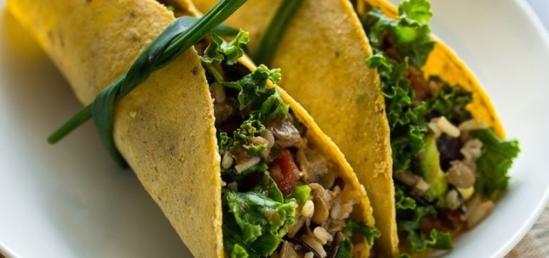 Veggie Tacos With Green Onion Ties Hero Image