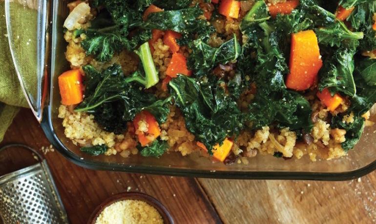 Minimalist Baker's Butternut Squash, Kale + Quinoa Bake Hero Image