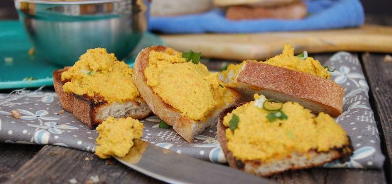 Vegan Carrot-Cashew Pâté (No Oil Necessary!) Hero Image
