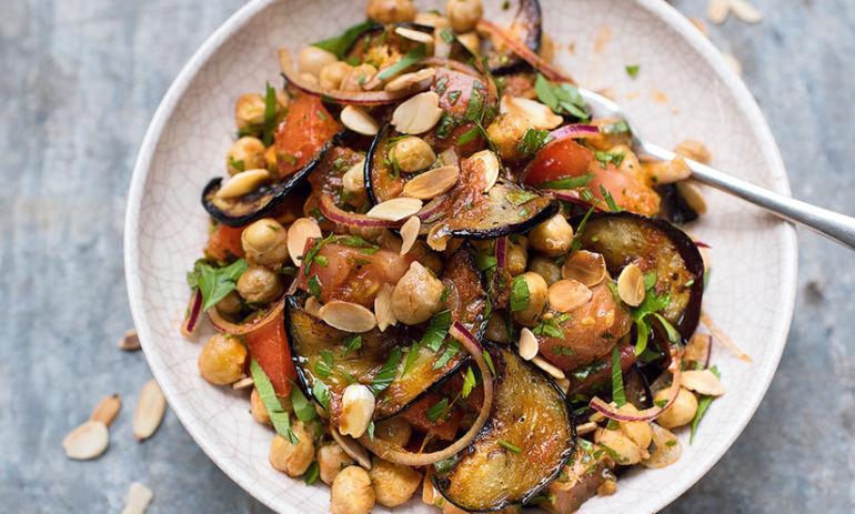Amelia Freer's Ultimate Weekday Lunch: Chickpea + Eggplant Salad Hero Image