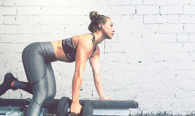 This British Fitness Star's Workouts Sculpt Her Muscles & Mind Hero Image