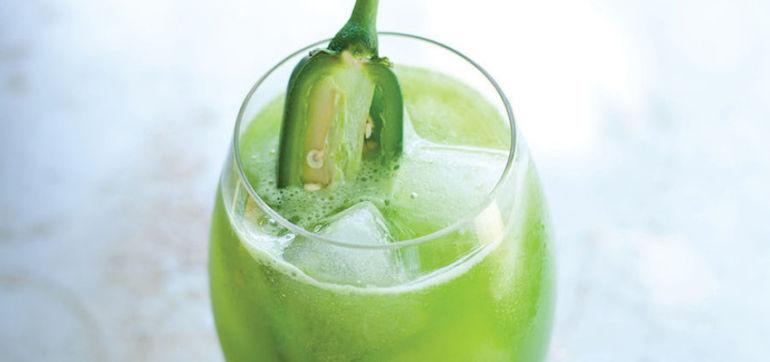 Cucumber-Kale Juice With A Jalapeño Kick Hero Image