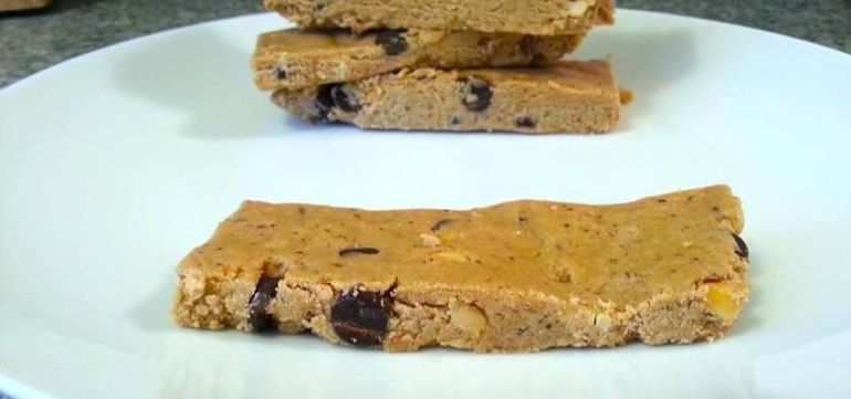 Chocolate Peanut Butter No-Bake Protein Bars Hero Image