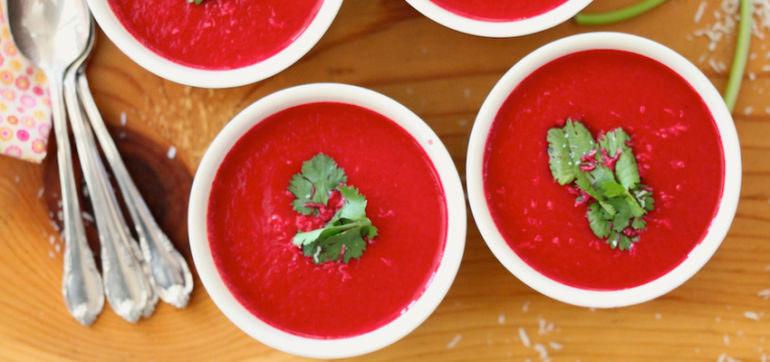 Spring Detox Beet Soup Hero Image