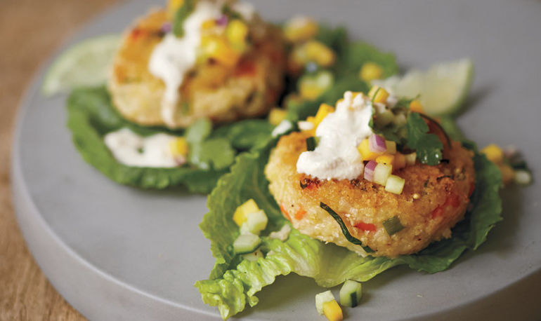 A Better Burger: Millet Veggie Patty + Cumin Cashew Cream Sauce Hero Image