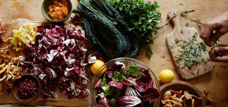 Warming Fall Kale Salad With Sriracha Vinaigrette Hero Image