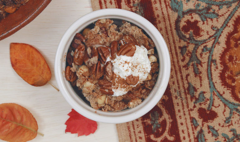 A Coconut Apple Crisp You Won't Want To Wait Till Thanksgiving To Make Hero Image