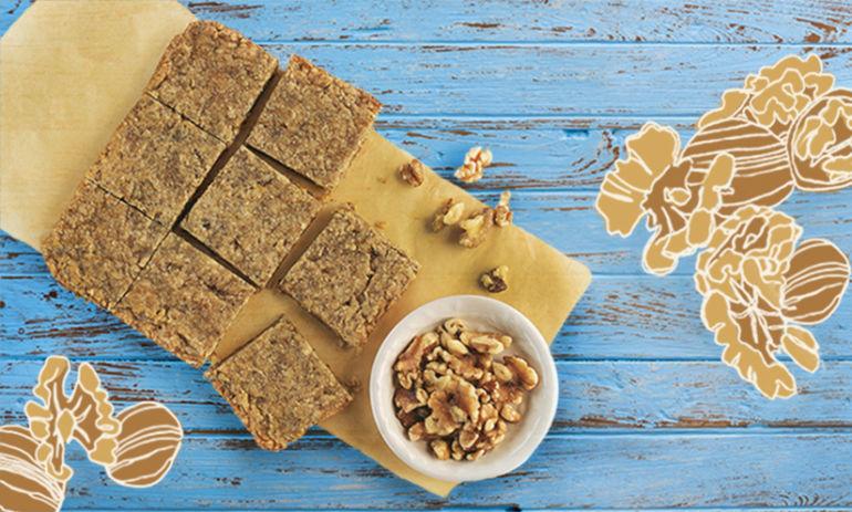 A Vegan Dessert Recipe You'll Love: Maple Walnut Blondies Hero Image