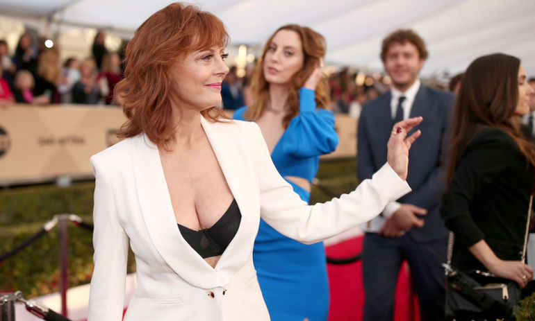 "Piers Morgan Called Susan Sarandon's Cleavage ""Tacky."" Is It Sexism Or Does He Have A Point? Hero Image"