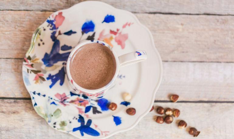 A Sugar-Free Superfood Hazelnut Hot Chocolate Hero Image