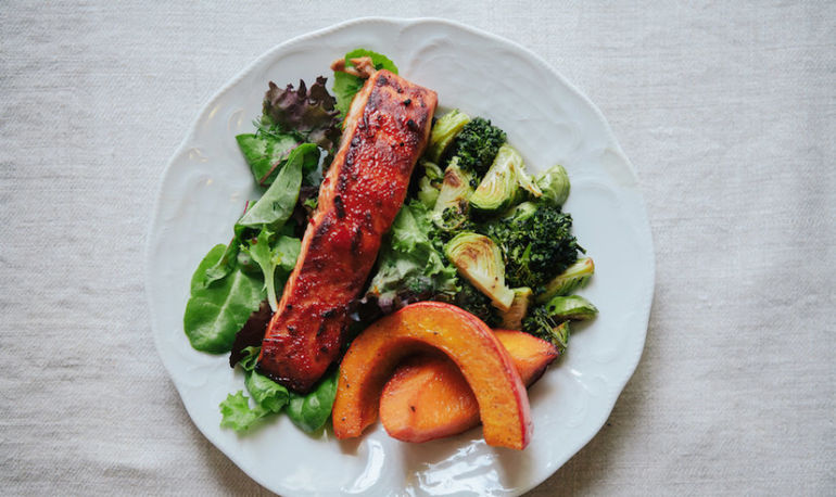 Cook Once, Eat Twice: Salmon + Roasted Winter Veggies Hero Image