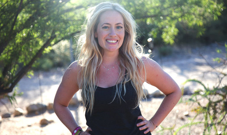 Kathryn Budig's Secrets For Staying Happy, Aiming True, And #Wellth Hero Image