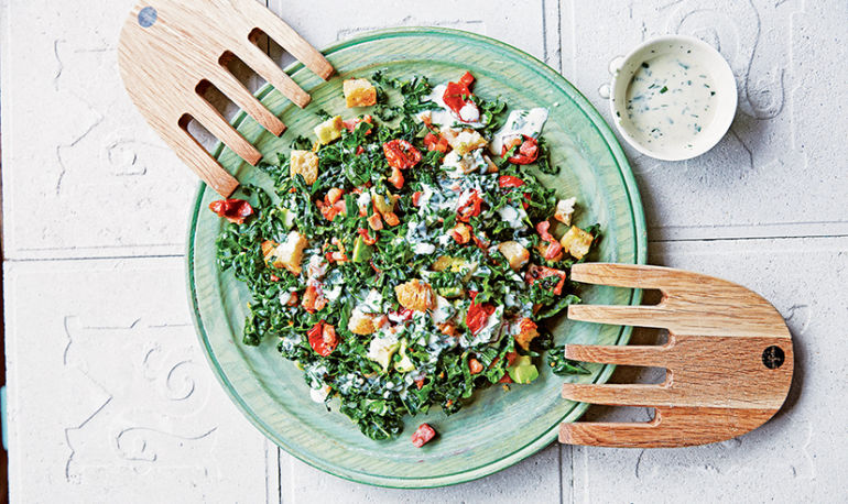 Think Outside The Sandwich: BKT (Bacon Kale Tomato) Salad Hero Image