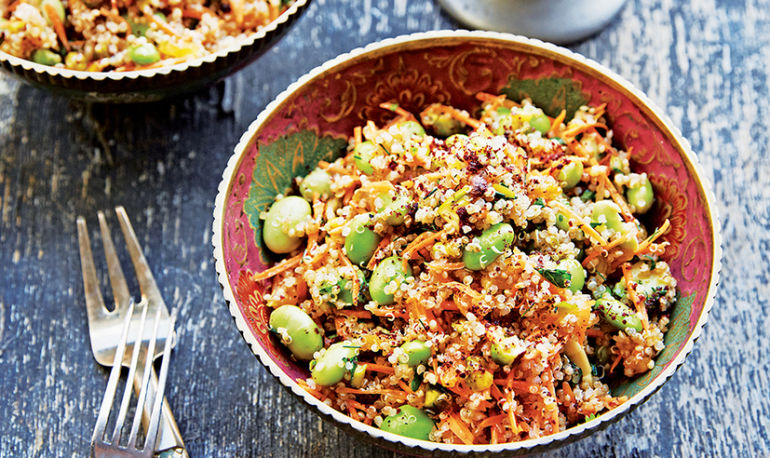Spice Up Your Sad Desk Lunch With This Middle Eastern Quinoa Salad Hero Image